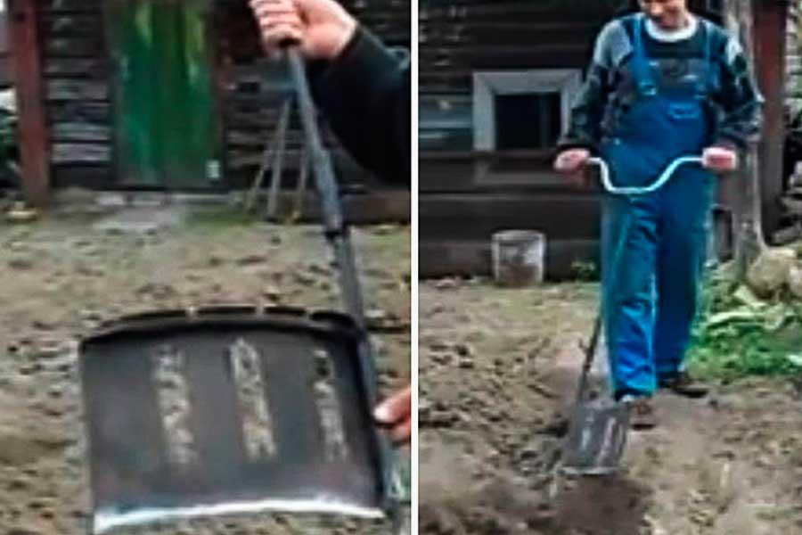 Самодельная лопата, чудо-инструмент